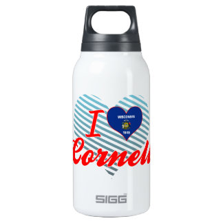 I Love Cornell, Wisconsin 10 Oz Insulated SIGG Thermos Water Bottle