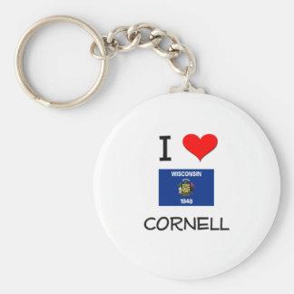 I Love Cornell Wisconsin Basic Round Button Keychain
