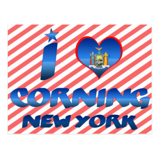 I love Corning, New York Postcard