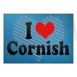 I Love Cornish Greeting Card