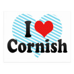 I Love Cornish Postcard