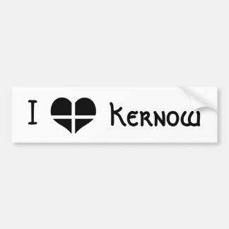 I Love Cornwall Kernow St Piran Flag Heart Design Bumper Sticker