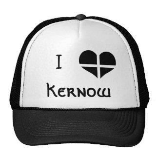 I Love Cornwall Kernow St Piran Flag Heart Design Trucker Hat