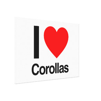 i love corollas gallery wrapped canvas