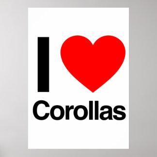 i love corollas print