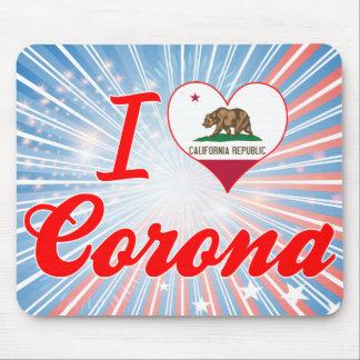 I Love Corona, California Mousepad