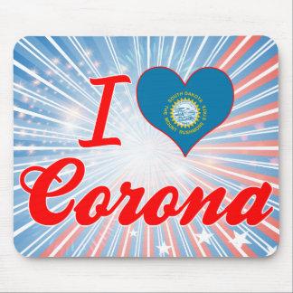 I Love Corona, South Dakota Mousepad