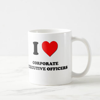 I Love Corporate Executive Officers Coffee Mugs