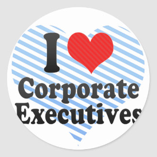 I Love Corporate Executives Sticker