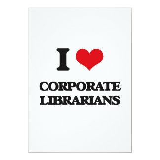 I love Corporate Librarians Custom Invitation