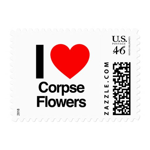 i love corpse flowers postage stamps