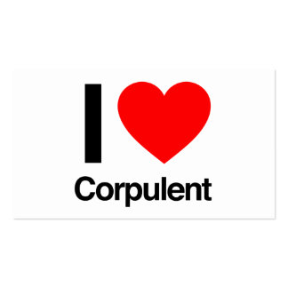i love corpulent Double-Sided standard business cards (Pack of 100)