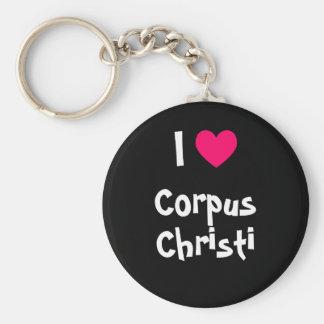 I Love Corpus Christi Keychain