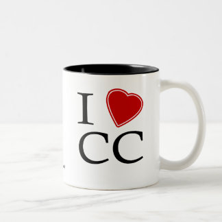 I Love Corpus Christi Two-Tone Coffee Mug