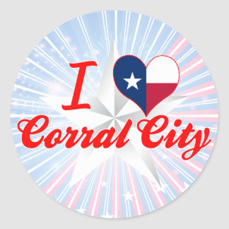 I Love Corral City, Texas Stickers