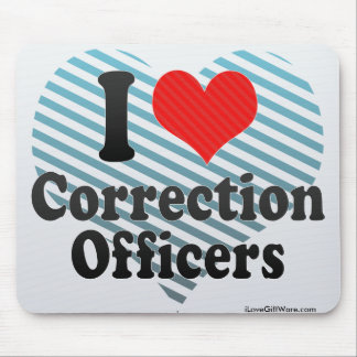 I Love Correction Officers Mouse Pads