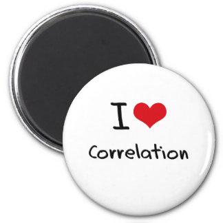 I love Correlation Refrigerator Magnet