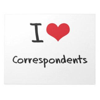 I love Correspondents Notepad