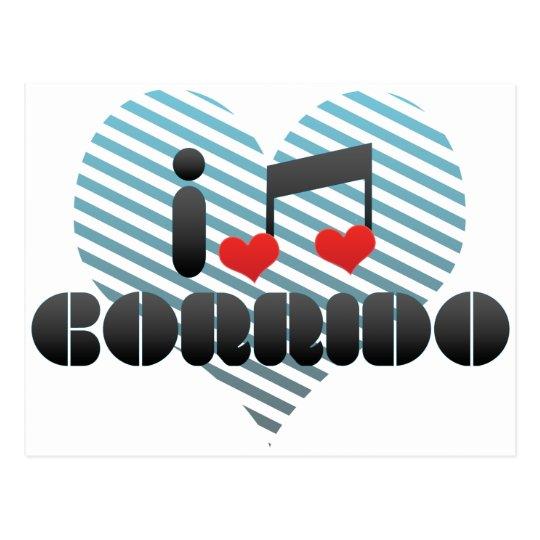 I Love Corrido Postcard