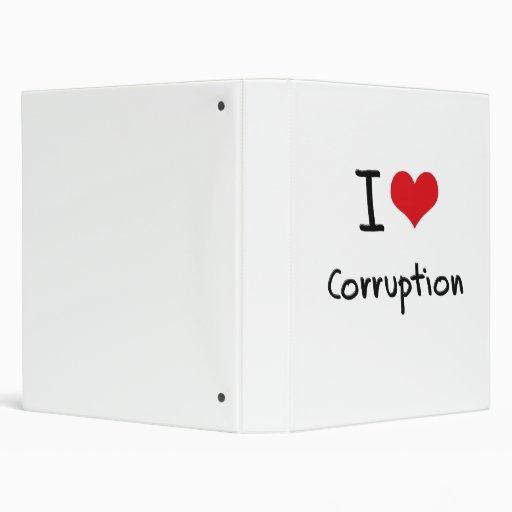 I love Corruption Vinyl Binders