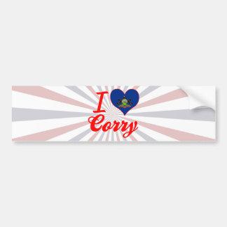 I Love Corry Pennsylvania Bumper Sticker