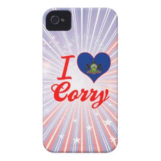 I Love Corry, Pennsylvania iPhone 4 Cases