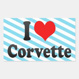 I love Corvette Stickers