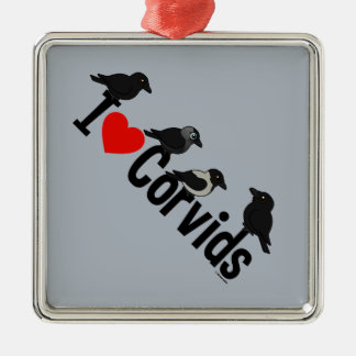 I Love Corvids Christmas Tree Ornament