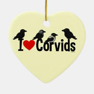 I Love Corvids Christmas Ornaments