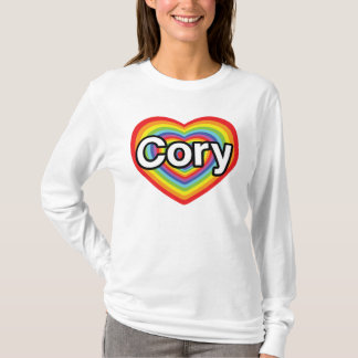 I love Cory: rainbow heart T-Shirt