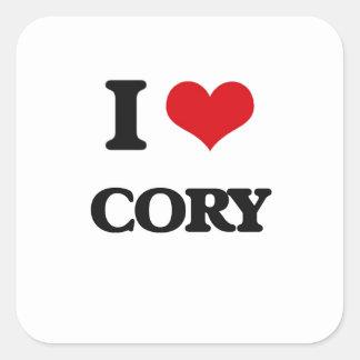 I Love Cory Square Sticker