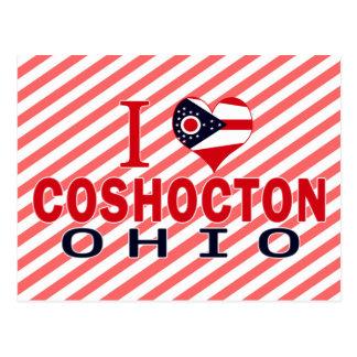I love Coshocton, Ohio Postcard
