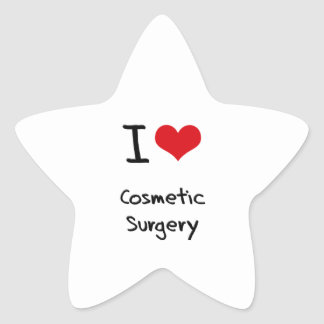 I love Cosmetic Surgery Star Sticker