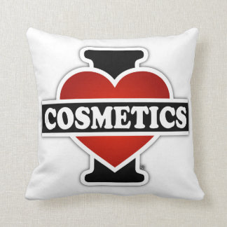 I Love Cosmetics Throw Pillow