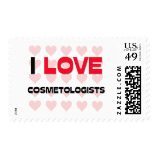 I LOVE COSMETOLOGISTS POSTAGE STAMPS