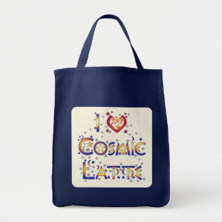 I Love Cosmic Latte Grocery Tote Bag
