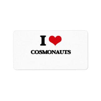 I love Cosmonauts Custom Address Label