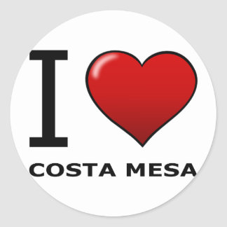 I LOVE COSTA MESA,CA - CALIFORNIA CLASSIC ROUND STICKER