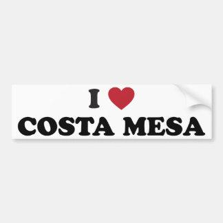 I Love Costa Mesa California Bumper Sticker