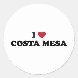 I Love Costa Mesa California Classic Round Sticker