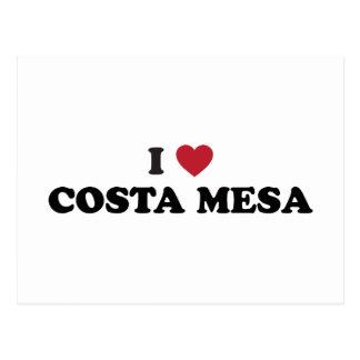 I Love Costa Mesa California Postcard