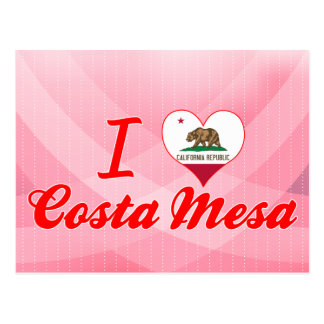 I Love Costa Mesa, California Postcard