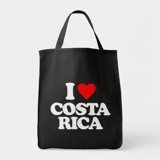 I LOVE COSTA RICA TOTE BAG