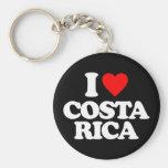 I LOVE COSTA RICA BASIC ROUND BUTTON KEYCHAIN