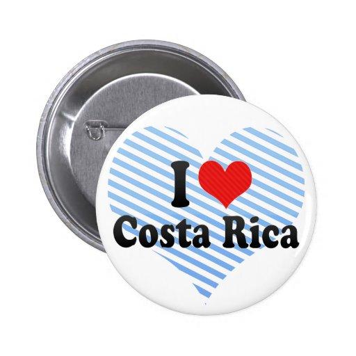 I Love Costa Rica Pins