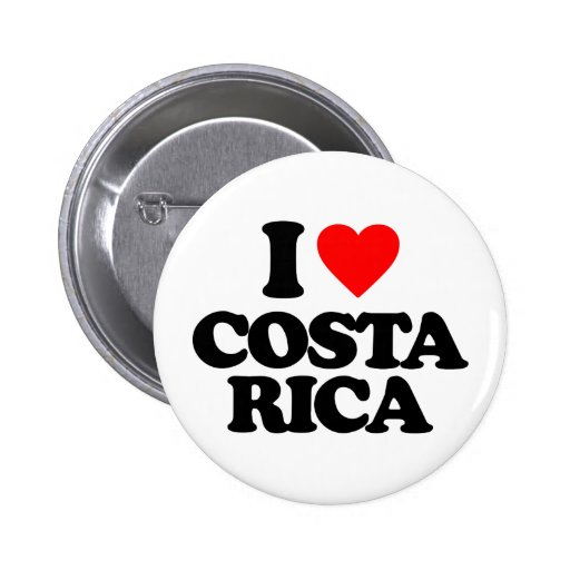 I LOVE COSTA RICA PIN