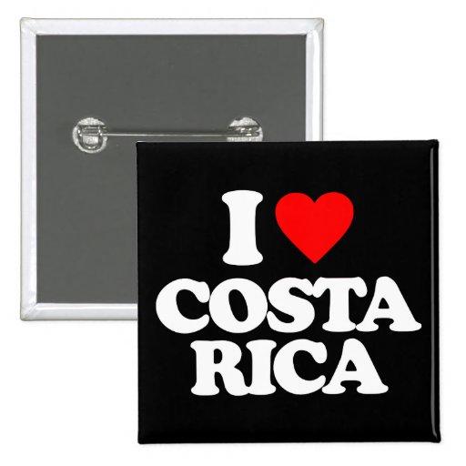 I LOVE COSTA RICA PINBACK BUTTON