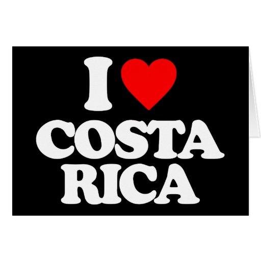 I LOVE COSTA RICA CARD