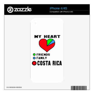 I love Costa Rica. Decals For iPhone 4S