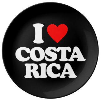 I LOVE COSTA RICA PORCELAIN PLATE